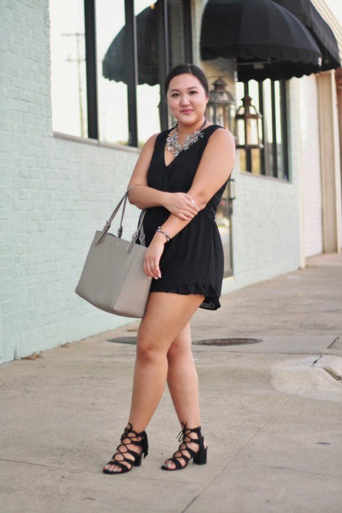 black romper nickie and dime tory burch dallas bloggers blogger lifestyle blogger little black dress