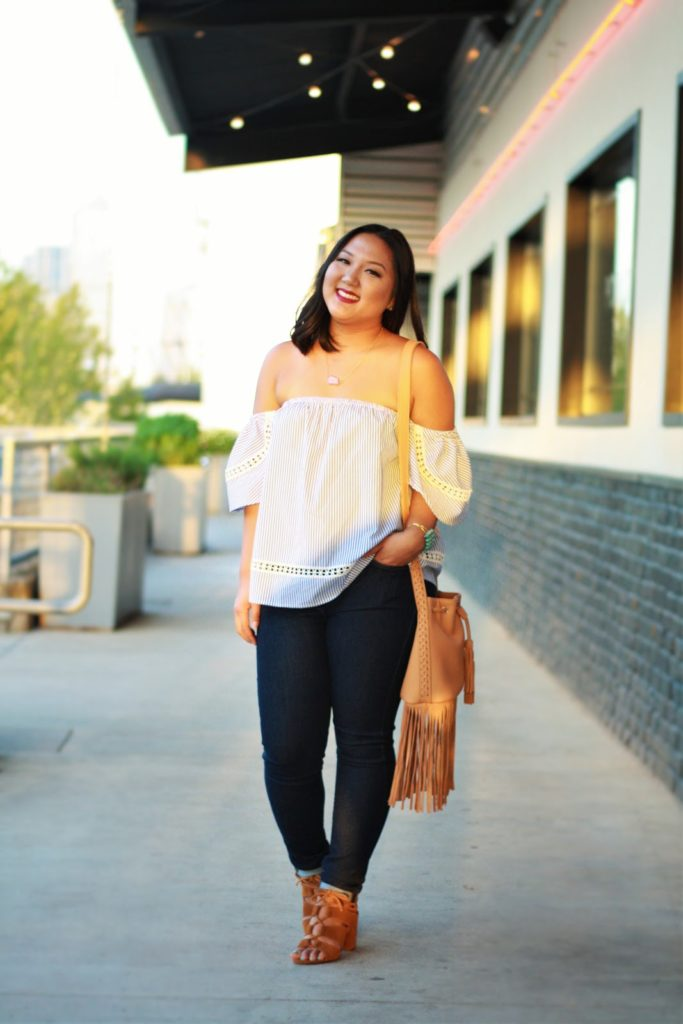 nickie and dime, off shoulder top, lily rain, dallas blogger, lifestyle blogger