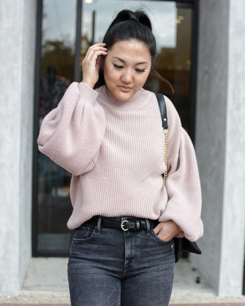 pink adobe Leith sweater Nordstrom