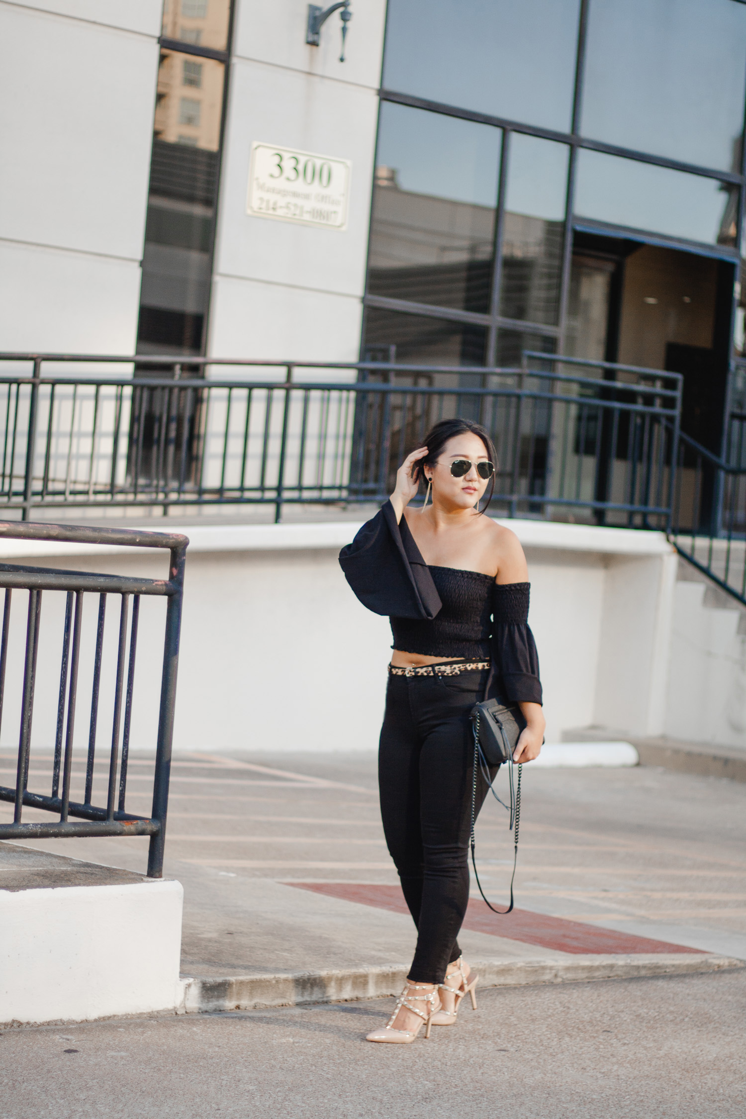 Black on Black Look In the Grey Blog Summer Style