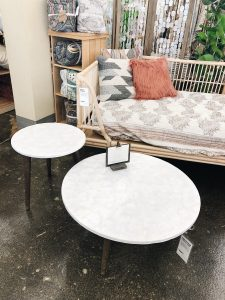 Round Stone Coffee Table Set World Market In the Grey Blog